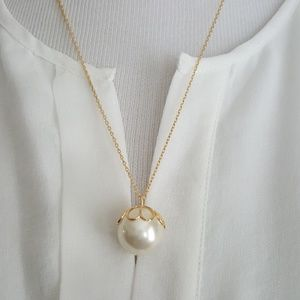 New kate spade Imitation Pearl Pendant Necklace